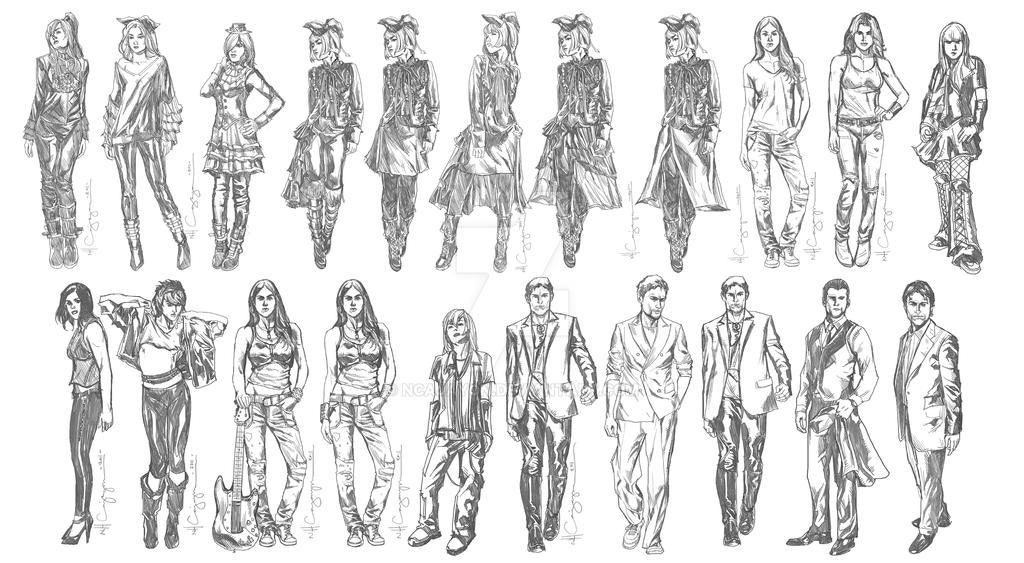 Fantasy Character Design Set 3 by ncajayon on DeviantArt