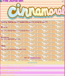Cinnamoroll Journal Skin Free To Use
