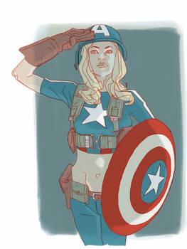 Captain girl america 2