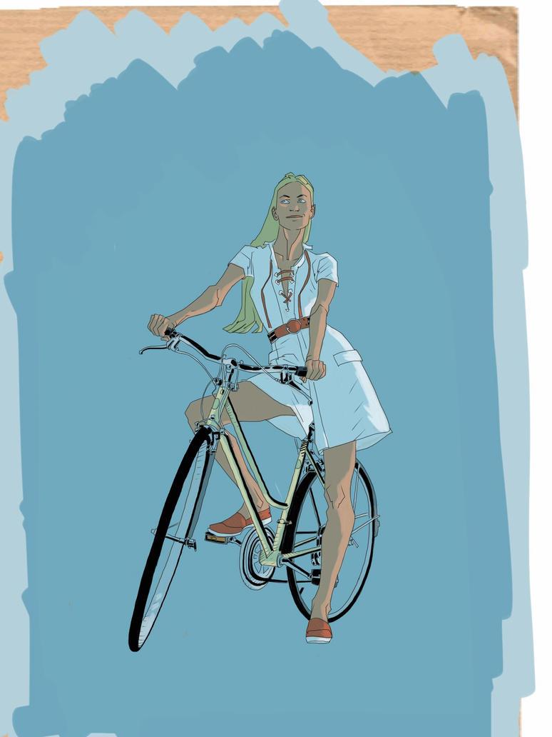 A bike a girl... by kartinka75