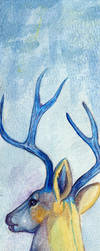 Watercolor Bookmark Deer WarmupX2 by daanzi