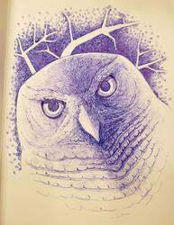 Ballpoint Owl by daanzi