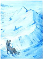 Winter Fox by daanzi