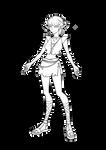 Elf Girl-Line art