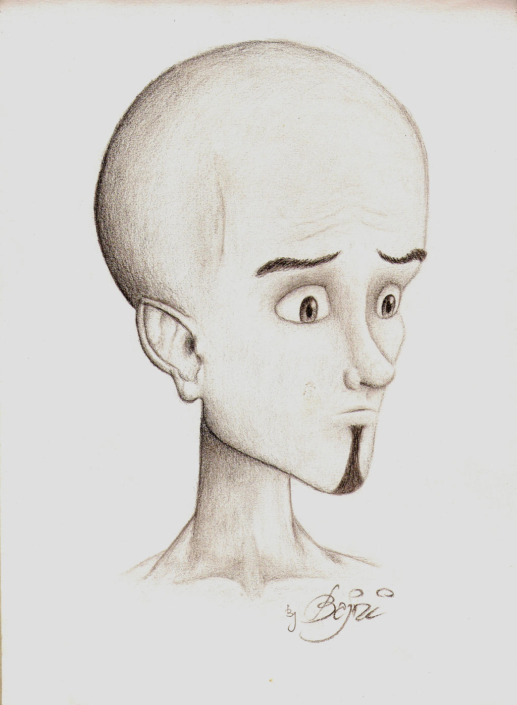 Megamind drawing by Bajni on DeviantArt