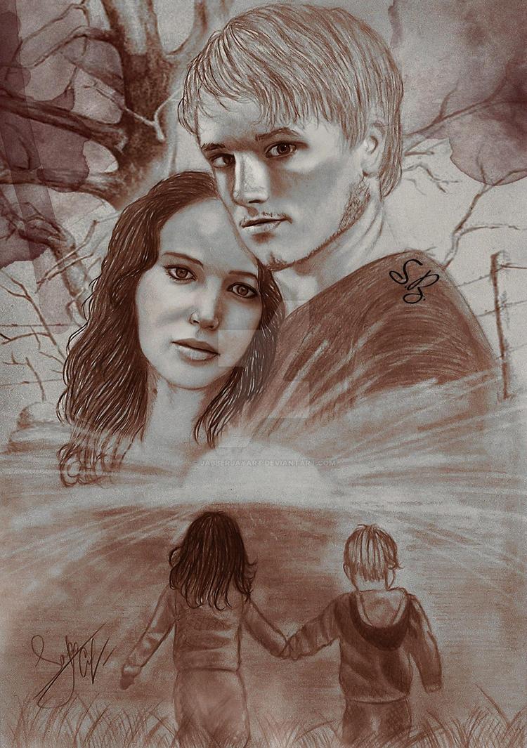 Katniss and Peeta by JabberjayArt on DeviantArt  Katniss And Peeta Fan Art Love