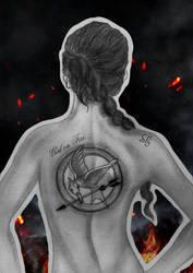 Katniss (Girl on Fire) by JabberjayArt