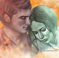 Katniss and Peeta by JabberjayArt