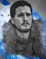 Jon Snow by JabberjayArt