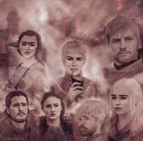 Game Of Thrones by JabberjayArt
