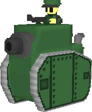 Green Earth Medium Tank by haimerejloh