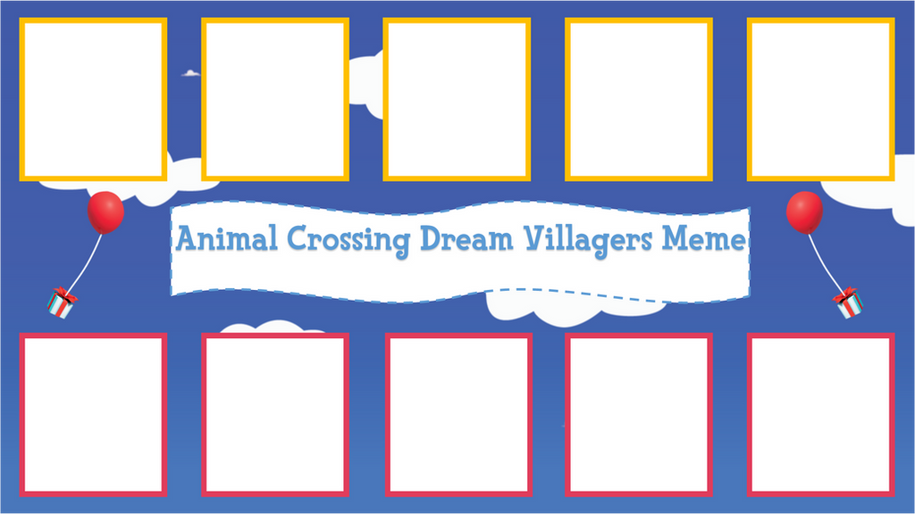 animal crossing dream villagers meme template by