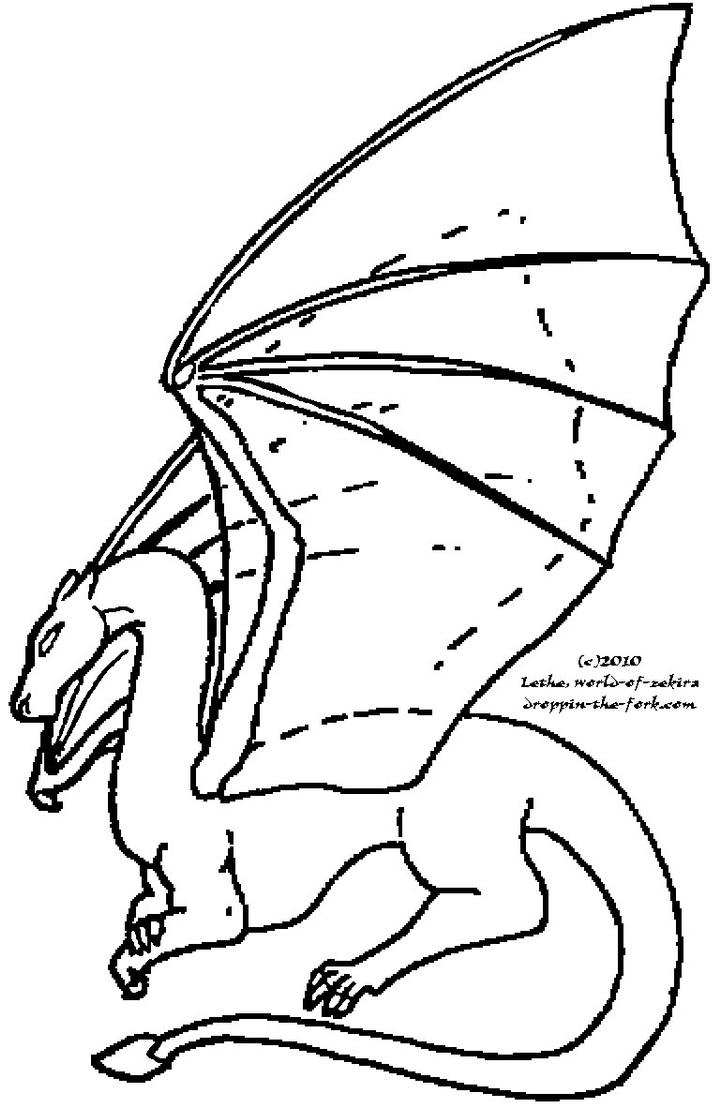 Queenly Dragon Template by lethe-gray on DeviantArt