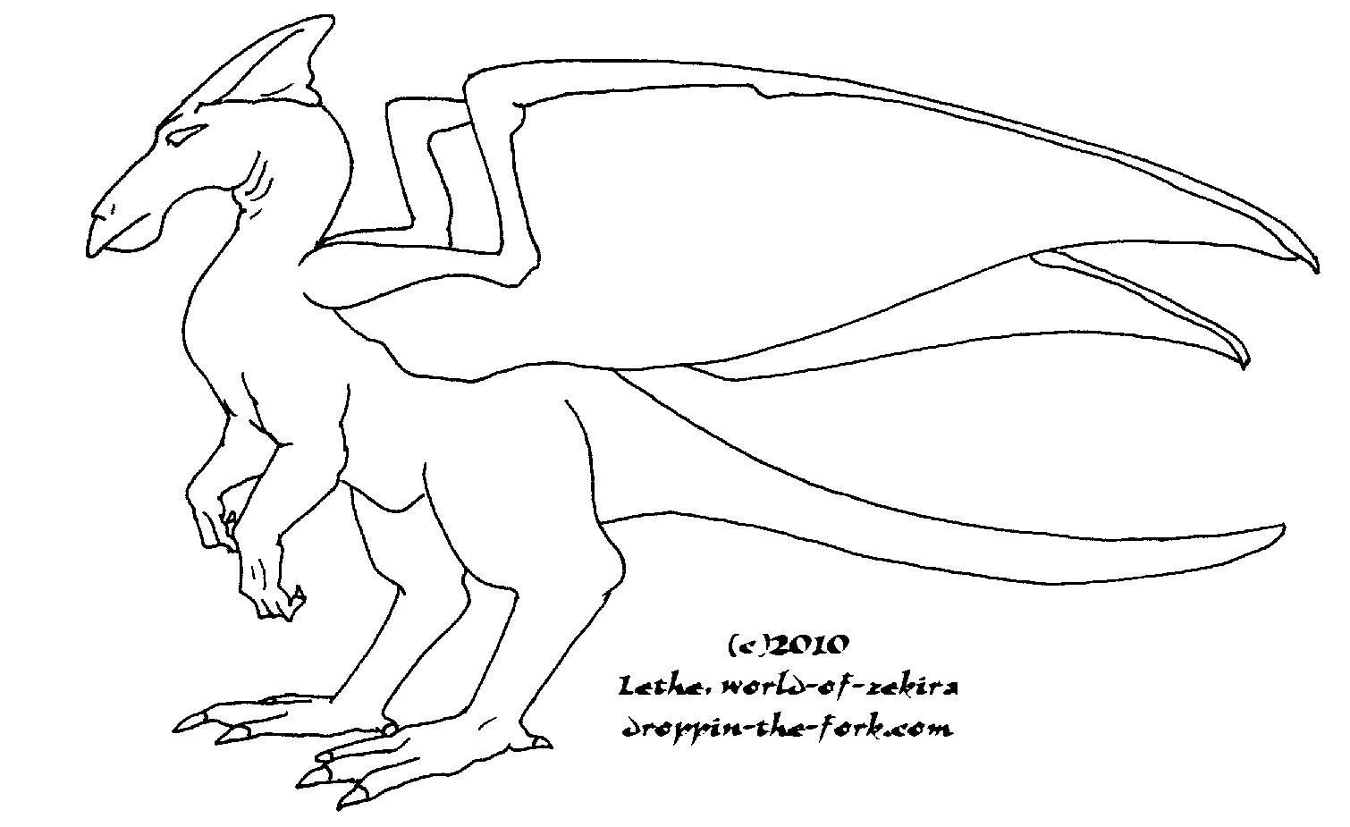 Runner Dragon Template by lethe-gray on DeviantArt