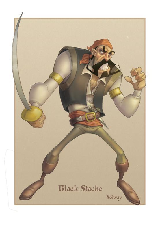 Black_Stache_painting by Kravenous