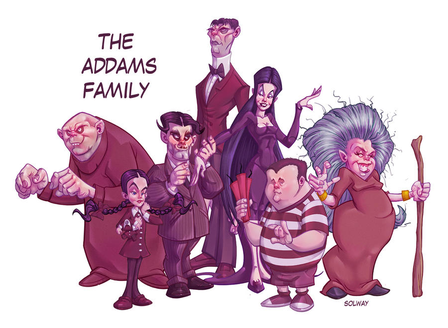 Addams Family color by Kravenous