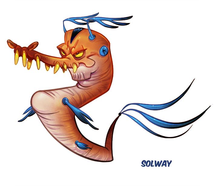 Creepy Seahorse by Kravenous