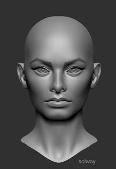 Sophia Loren:zbrush in progres