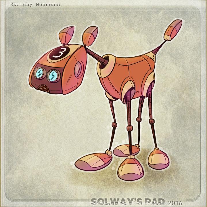 Number3 Robot Dog by Kravenous