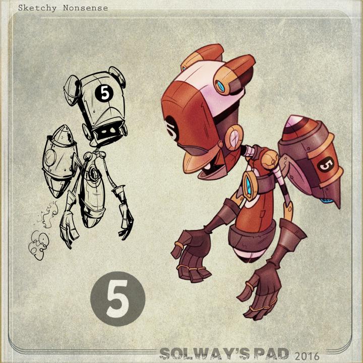 Robot 5 by Kravenous