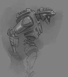 robot scribble by Kravenous