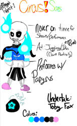 Circus!Tale Sans by TheMangledPuppet1