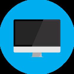 Flat iMac by blenderednelb