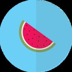 Flat Watermelon Design! by blenderednelb