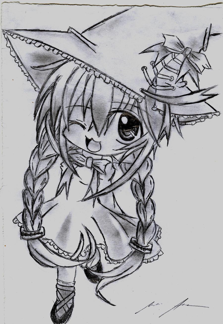 chibi anime drawing by KurunomiBreaK on DeviantArt