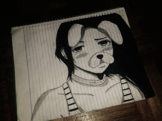 Anime Girl Snapchat Sketch by KurunomiBreaK
