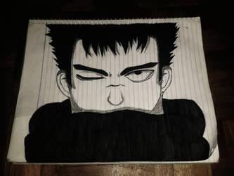 Guts (Berserk) Fan art sketch by KurunomiBreaK