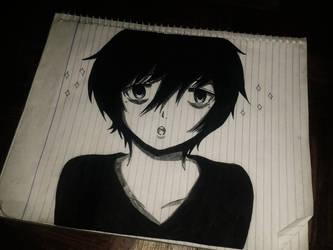 Anime Guy Sketch by KurunomiBreaK