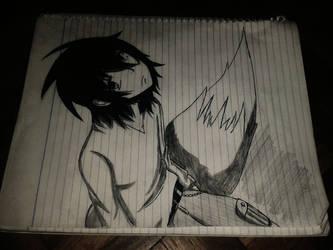 Sitting on his tail by KurunomiBreaK