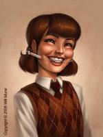 School Portrait painting by whmurai