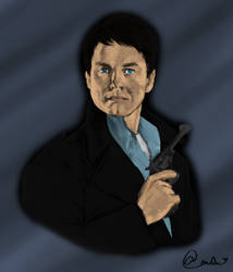 Cpt Jack Harkness Portrait- Water Color by Anileu