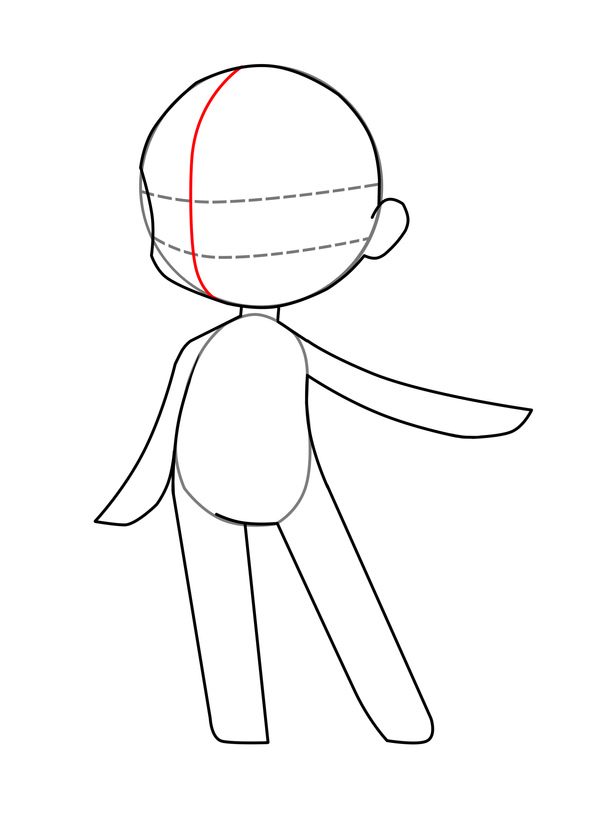 Chibi Body Base Coloring Pages