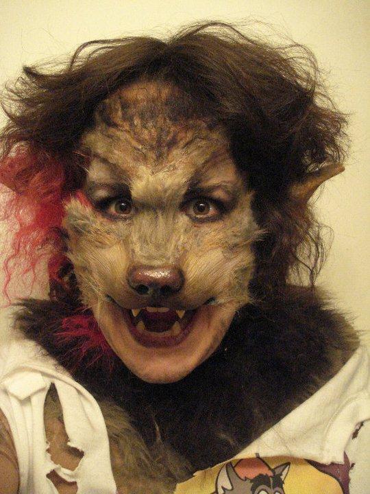 Werewolf Face Paint With Beard