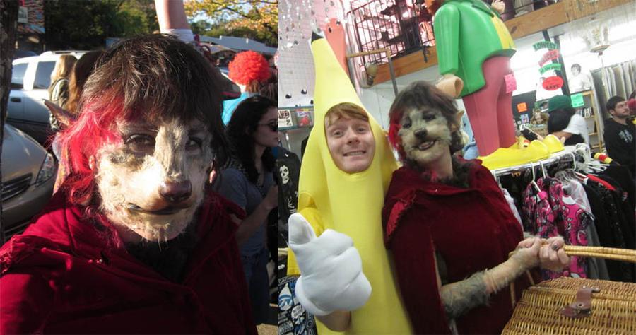 Red riding hood werewolf costume