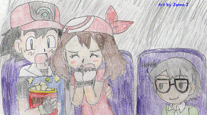 Comfort at a scary movie by Advanceshipping