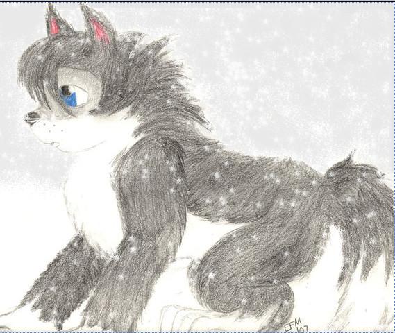 snow wolf pup by ezzygezzy