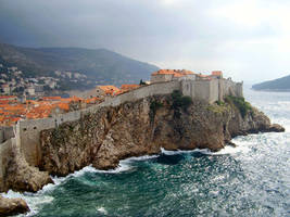 Cliff face stock - Dubrovnik by Deaths-stock