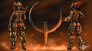 Hunter Skin for Athena (Quake fanart)