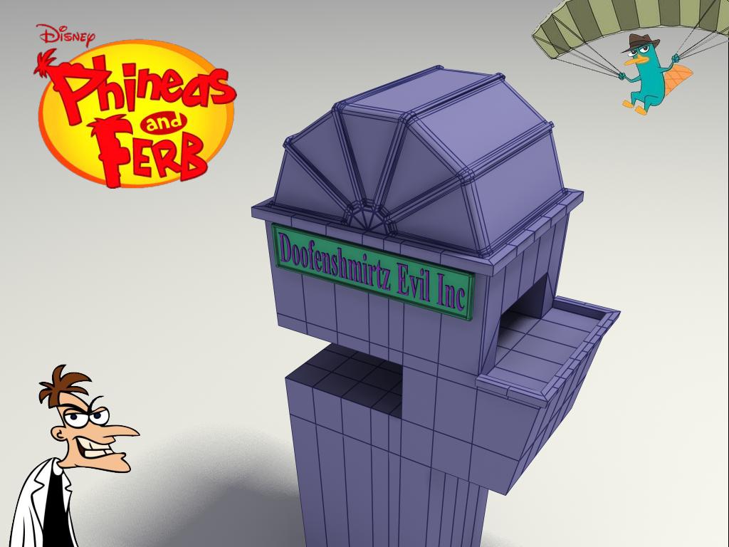 Phineas And Ferb Dr Doofenshmirtz Building 3D Doofenshmirt...