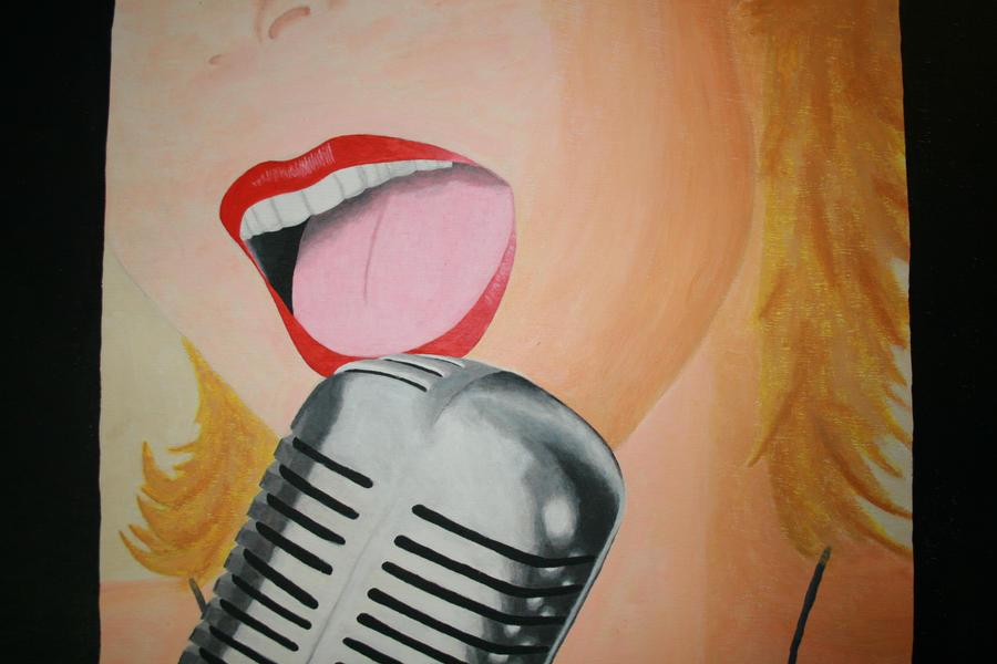 Sing it girl! by dedeartist