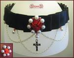 Gothic Rose Choker + Ring