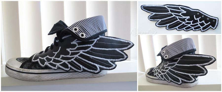 Shoe Wing Accessory by xXnijuuniXx