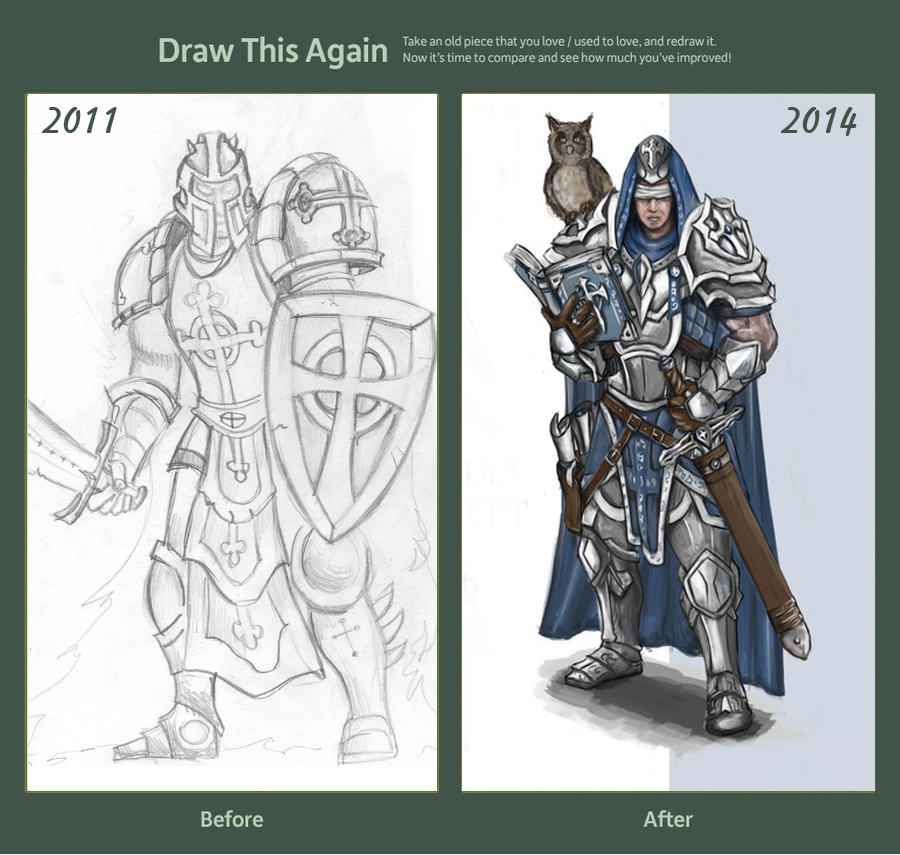Paladin Before/After by TheLastParanoid