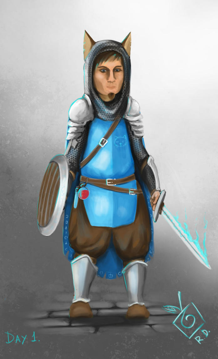 Day #1  Draw yourself as RPG`s main character by TheLastParanoid
