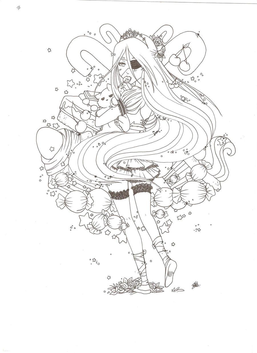 Line Art Skull : Skull line art by candie on deviantart