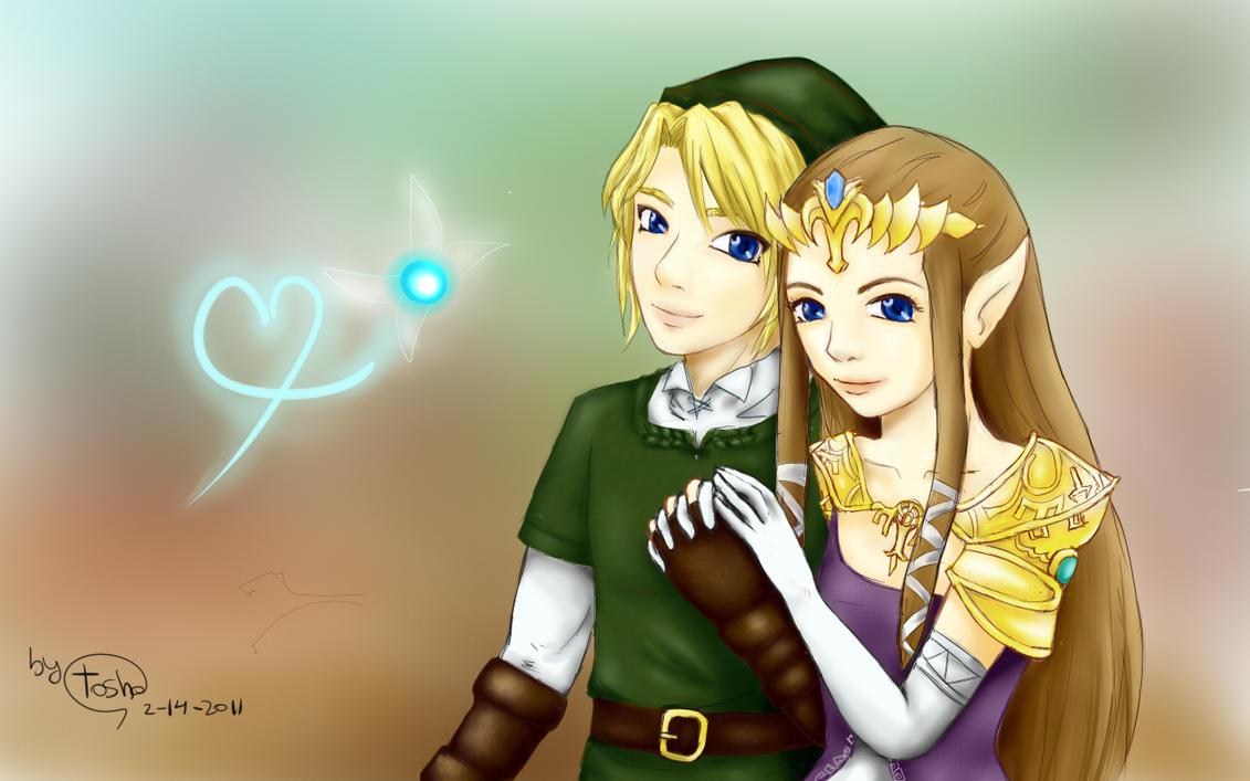 Link And Zelda Relationship Zelda And Link Make Lo...